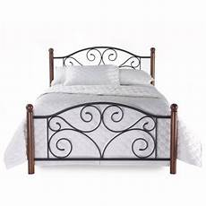 bed frame plank headboard funky new king size metal wood mattress bed frame