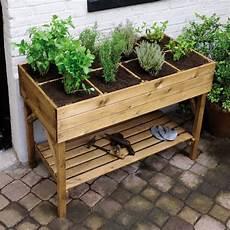 jardinière sur pied jardiland carr 233 potager sur pieds l120 h86 5 cm bois trait 233
