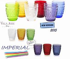 bicchieri acqua colorati offerta speciale set 6 bicchieri acqua imperial vetro