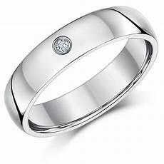 5mm palladium diamond heavy court wedding ring band palladium rings at elma uk jewellery