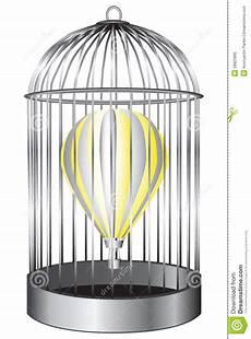 gabbia uccello gabbia di uccello pallone illustrazione vettoriale