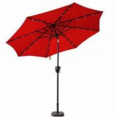 sunray 9 ft bluetooth speaker solar lighted market patio umbrella in scarlet 841041 the home