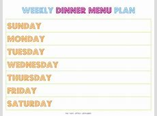 30 Family Meal Planning Templates {weekly, monthly, budget