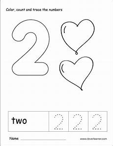 number two writing counting and recognition activities for children