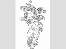 Coloriage robot transformers 1 sur Hugolescargot.com