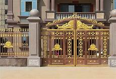 gold color security gate paint finish aluminum alloy