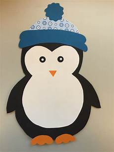 klassenkunst fensterdeko pinguin freebie pinguin