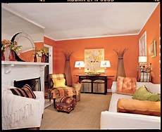 tangerine orange living room southern living