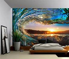 Sunset Wall Murals sunset sea wave large wall mural self adhesive vinyl