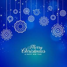 beautiful blue merry christmas background with creative bal download free vector art
