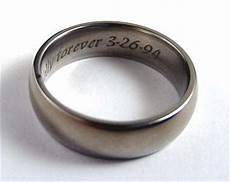 they want their wedding bands engraved but this did something sneaky instead of
