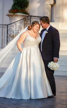 wedding dresses plus size ball gown wedding dress with sash stella york