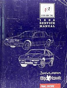 book repair manual 1988 buick skylark electronic valve timing 1988 buick skylark skyhawk 2 0l engine vin 1 repair shop manual supplement