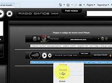 como colocar player de radio no topo do blog youtube