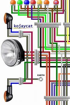 Kawasaki Zzr600 Wiring Diagram by Kawasaki Zx1000a 1985 1987 Usa Colour Wiring Diagram