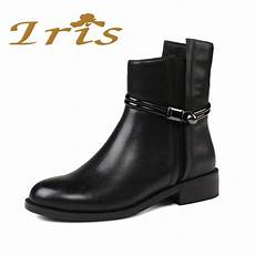 Zara 3cm Black iris flat black ankle boots for genuine leather