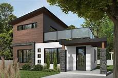 Modernes Einfamilienhaus Grundriss - affordable modern two story house plan with large deck on