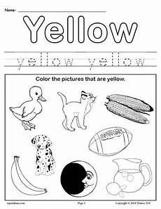 printable worksheets on colors 13003 color yellow worksheet preschool worksheets color worksheets for preschool teaching colors