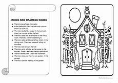 multi step directions worksheets 11737 inside the haunted house worksheet free esl printable worksheets made by teachers