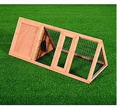 gabbia per conigli fai da te pawhut gabbia per conigli e animali domestici in legno di