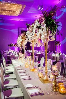 glamorous gold purple wedding theme elegantwedding ca