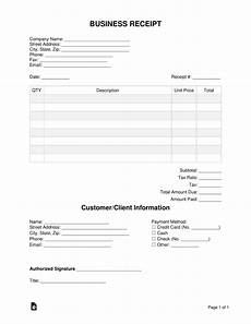 free business receipt template word pdf eforms free fillable forms