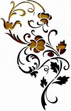 wandtattoo schablone wandschablonen schablone wandtattoo ornament stencil