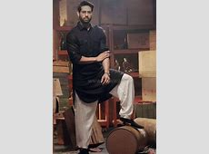 Exclusive Raees Pathani Suit in Black color #
