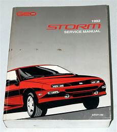 auto repair manual free download 1992 geo storm security system 1992 chevy geo storm 2 2 gsi hatchback factory dealer shop service repair manual ebay