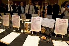 silent auction display idea use easels to hold large