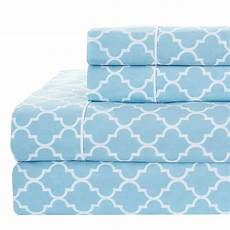 printed meridian split king adjustable bed sheet sets 100
