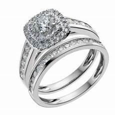 18ct white gold one carat diamond double halo bridal
