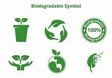 biologisch abbaubarer symbol vektor kostenlos