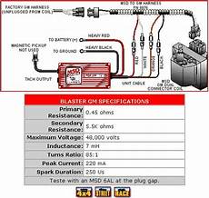 gm dis wiring diagram msd blaster gm dual connector coil pelicanparts