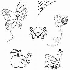 malvorlagen insekten zum ausdrucken ausmalbild tiere verschiedene insekten kostenlos ausdrucken