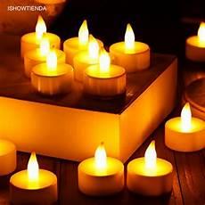 candele led ishowtienda 24pcs led tea light candles householed