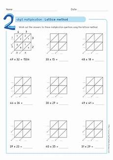 lattice method multiplication exles worksheets test