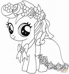 my pony scootaloo coloring page free printable