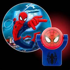 projectables marvel spiderman automatic led night light 13341 the home depot