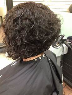 super cute stacked inverted bob curly hair in 2019