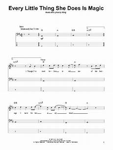 every little thing she does is magic sheet music the police bass guitar tab