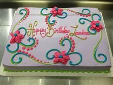 scrolls and flowers girly birthday cake girly birthday cakes birthday sheet cakes sheet cake
