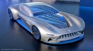 &187 Futuristic Concept Of Sports Car Maserati With VR