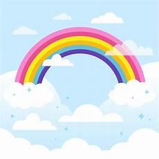 Malvorlagen Regenbogen Am Himmel Regenbogen Am Himmel Kostenlose Vektor