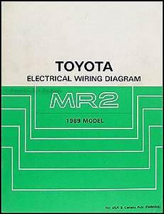 1989 toyota mr2 wiring diagram manual original