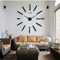pretty large wall clock living room diy 3d home decoration