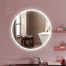 Badspiegel Rund Mit Beleuchtung - runder bad spiegel led beleuchtet cottbus 60cm rund