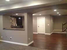 finished basement sherwin williams griege basement