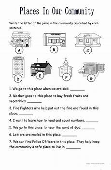 places in the community worksheet free esl printable worksheets made by teachers
