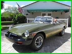 buy used 76 tundra olive green mgb convertible with new autumn leaf interior florida in